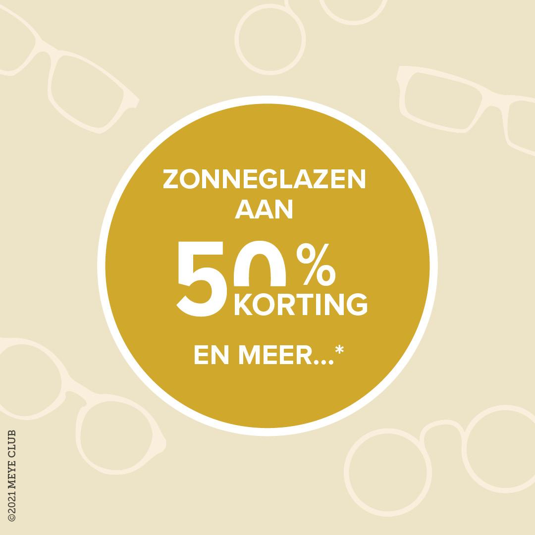 Zonneglazen aan 50% korting en meer*