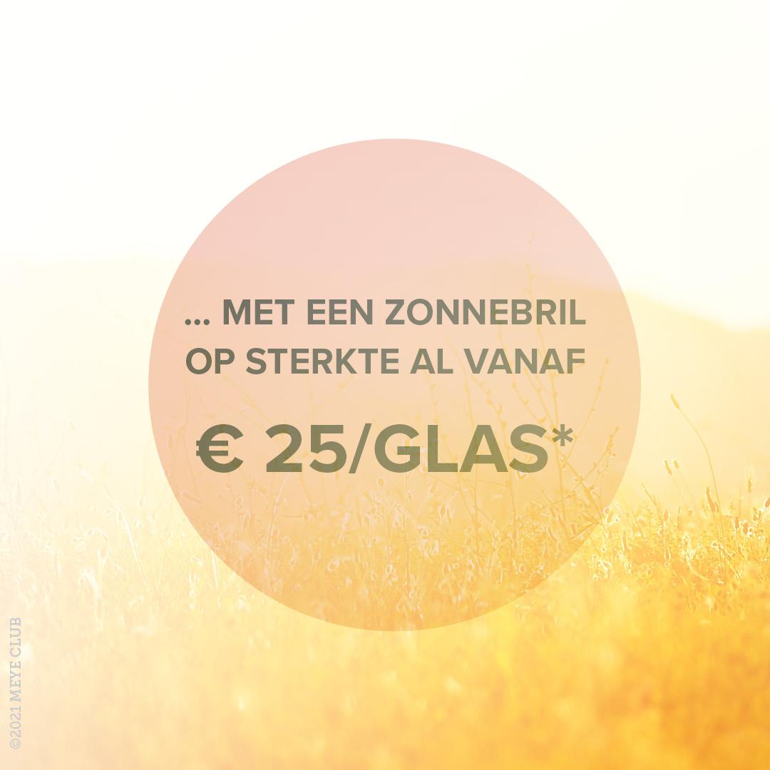 Zonnebril op sterkte al vanaf € 25 per glas!